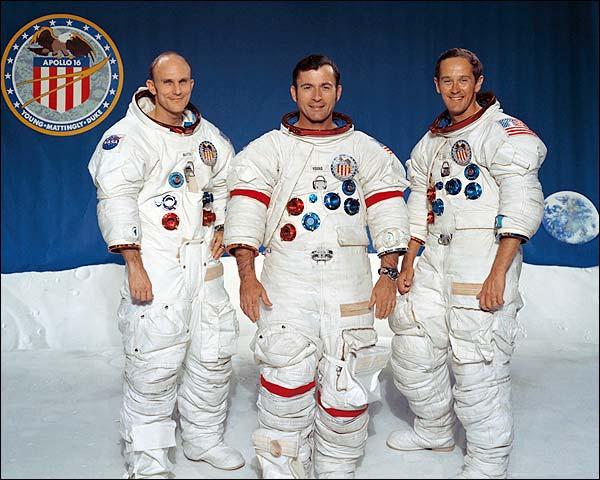 NASA Apollo 16 Crew Mattingly, Young & Duke  Photo Print for Sale
