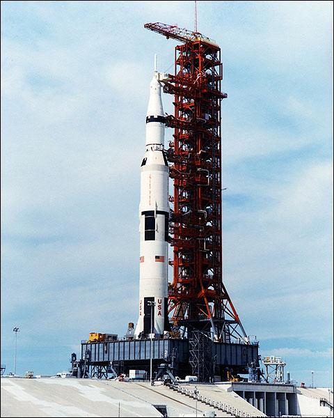 Apollo 14 Saturn V Rocket Daytime Photo Print for Sale