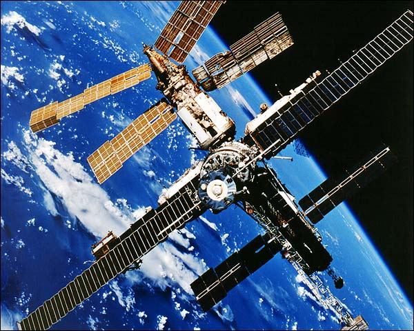 Mir Space Station in Orbit Taken From Space Shuttle STS-86 Photo Print for Sale