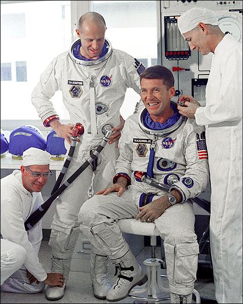 Gemini 6 Wally Schirra & Tom Stafford Photo Print for Sale