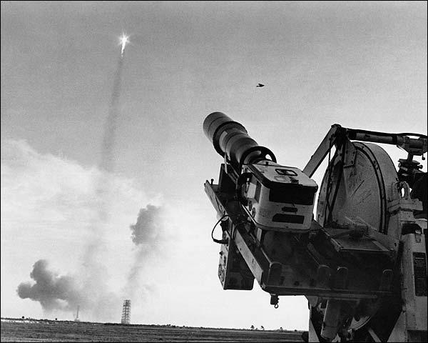 Apollo 8 Saturn V Rocket Launch w/ Camera Photo Print for Sale