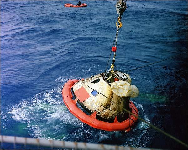 Apollo 8 Command Module Recovery in Pacific NASA Photo Print for Sale
