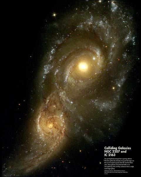Hubble Space Telescope Colliding Galaxies Photo Print for Sale
