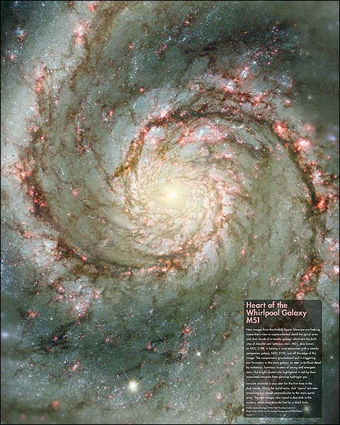 Hubble Space Telescope Whirlpool Galaxy Photo Print for Sale