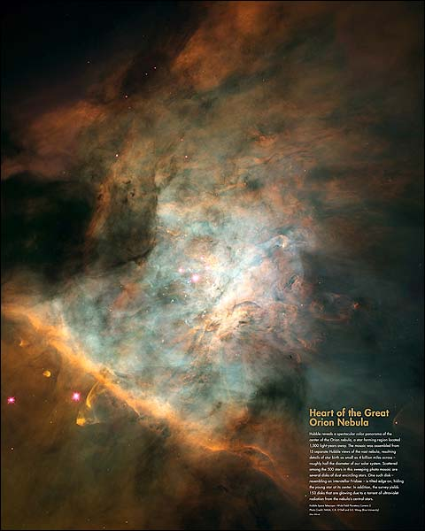 Hubble Space Telescope Great Orion Nebula Photo Print for Sale