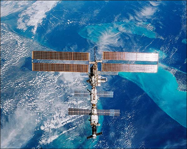 International Space Station over Florida NASA Photo Print for Sale