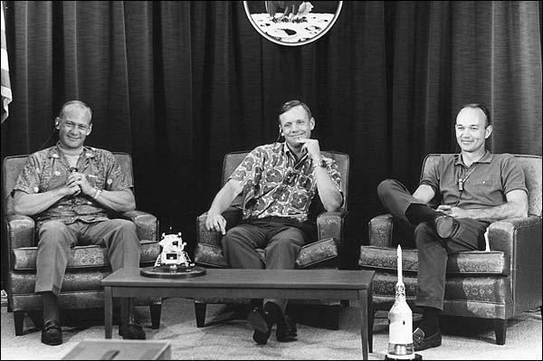 Apollo 11 Crew Pre-Launch Press Conference Photo Print for Sale