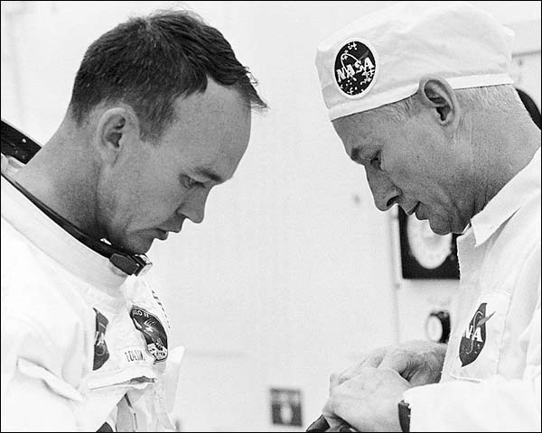 NASA Apollo 11 Astronaut Michael Collins Suiting Up  Photo Print for Sale