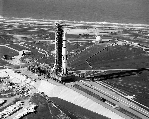Apollo 11 Saturn V Rocket Launch Complex Photo Print for Sale