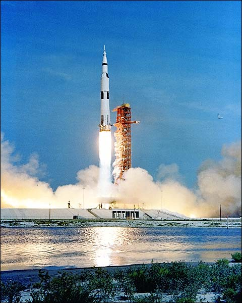 Apollo 11 Saturn V Launch w/ Reflection Photo Print for Sale
