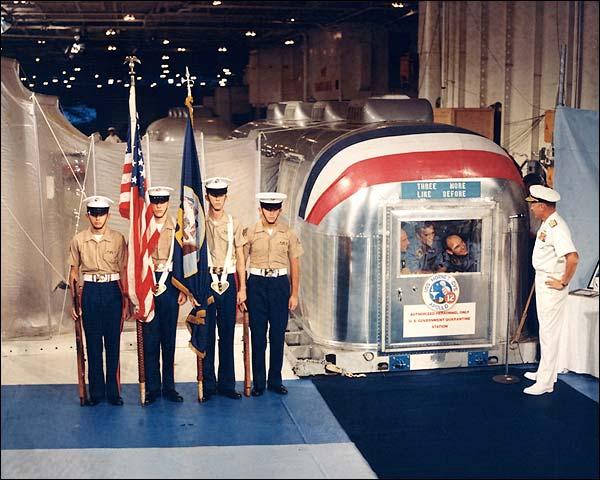 Apollo 12 USS Hornet Astronaut Quarantine Photo Print for Sale