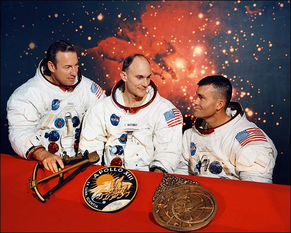 Apollo 13 Crew Lovell, Mattingly & Haise Photo Print for Sale
