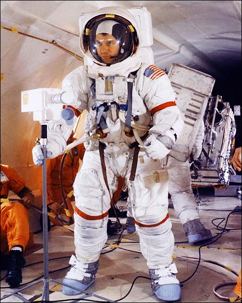 Apollo 14 Astronaut Alan Shepard Suited Up Photo Print for Sale