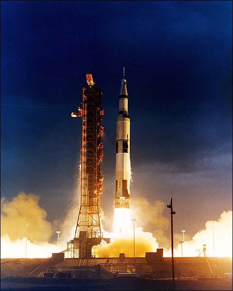 Apollo 14 Saturn V Rocket Launch NASA Photo Print for Sale