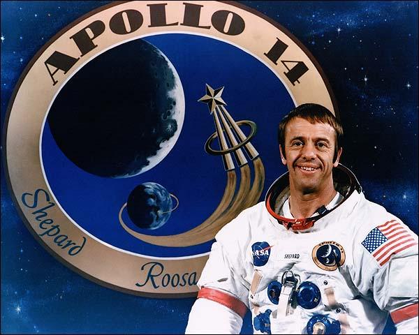 Apollo 14 Astronaut Alan Shepard Portrait Photo Print for Sale