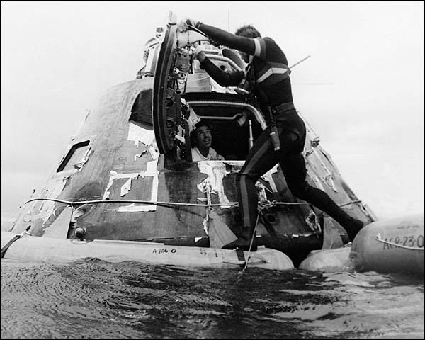 Apollo 15 Astronaut David Scott Recovery Photo Print for Sale