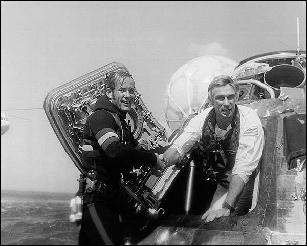 Apollo 17 Recovery Astronaut Eugene Cernan  Photo Print for Sale