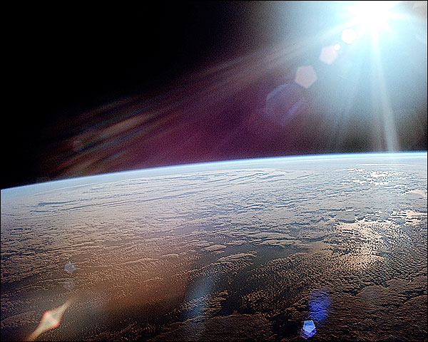 Apollo 11 Earth Horizon & Sun NASA Photo Print for Sale