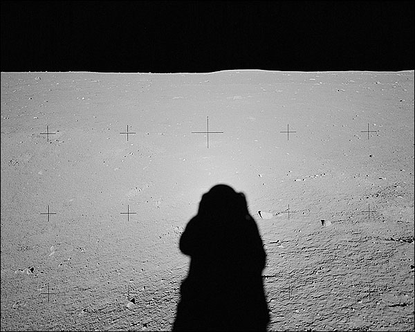 Apollo 11 Neil Armstrong Shadow on Moon Photo Print for Sale