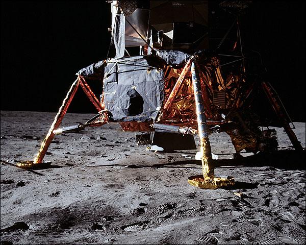 Apollo 11 Lunar Module on Moon NASA Photo Print for Sale