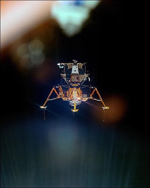 Apollo 11 Lunar Module Descent to Moon NASA Photo Print for Sale