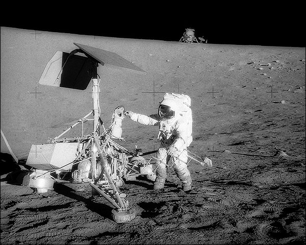 Apollo 12 Charles 'Pete' Conrad with Surveyor Photo Print for Sale