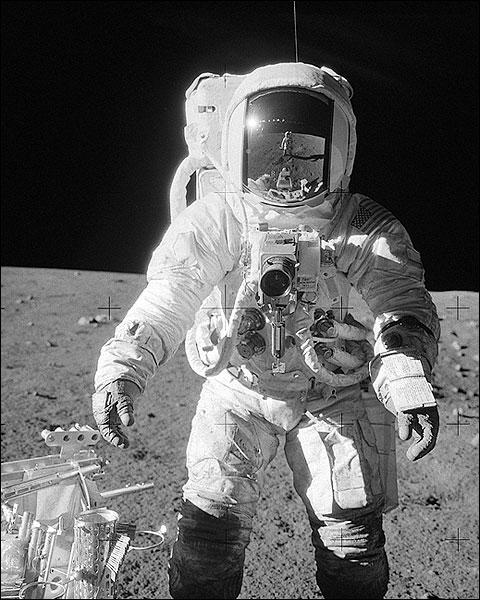 Apollo 12 Alan Bean on Moon w/ Tools Photo Print for Sale