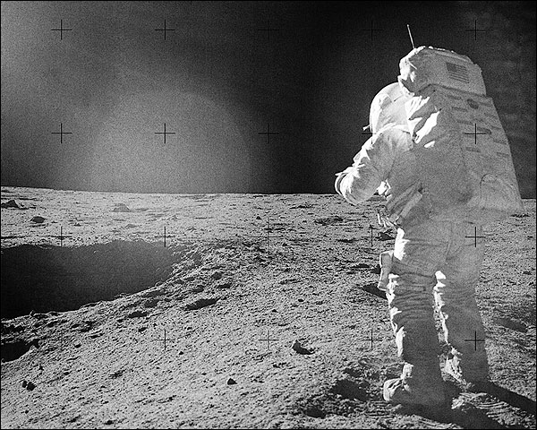 Apollo 14 Astronaut Edgar Mitchell on Moon Photo Print for Sale
