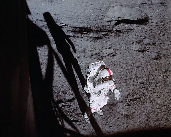 Apollo 14 Astronaut Alan Shepard EVA Moon Photo Print for Sale