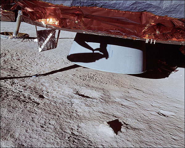 Apollo 14 Lunar Module Engine Bell on Moon Photo Print for Sale