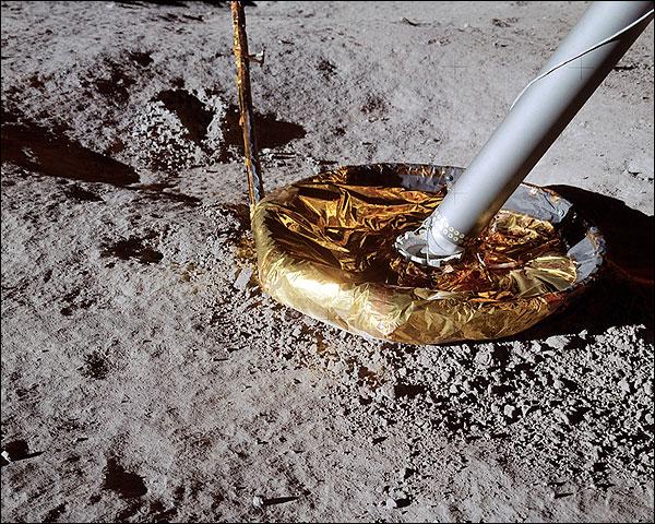 Apollo 14 Lunar Module Footpad on Moon Photo Print for Sale