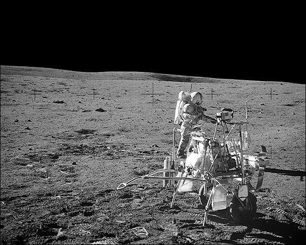 Apollo 14 Astronaut Alan Shepard on Moon Photo Print for Sale