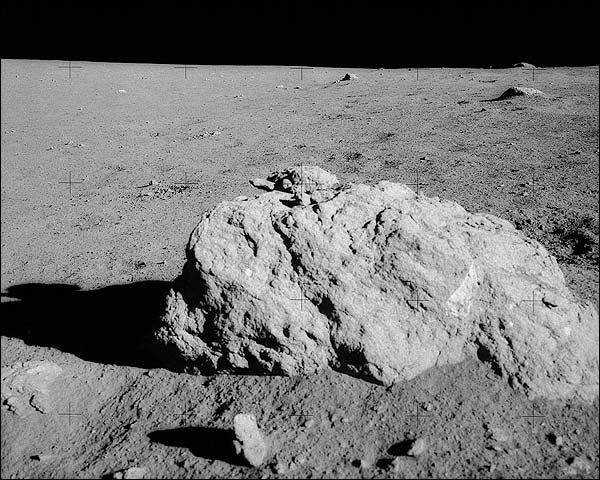 Apollo 14 Turtle Rock on Moon Surface NASA Photo Print for Sale