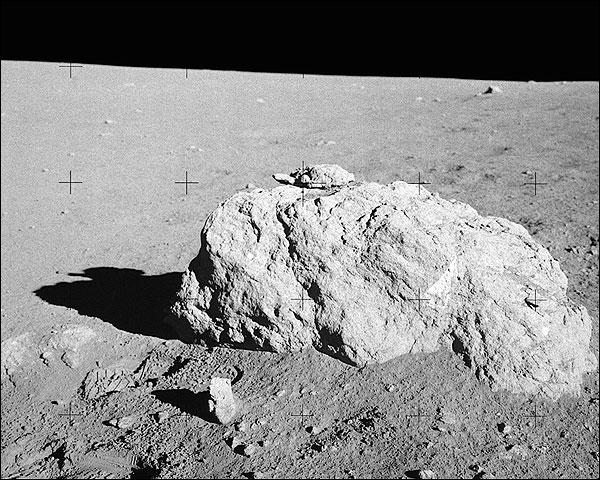 NASA Apollo 14 Turtle Rock on Moon Surface  Photo Print for Sale