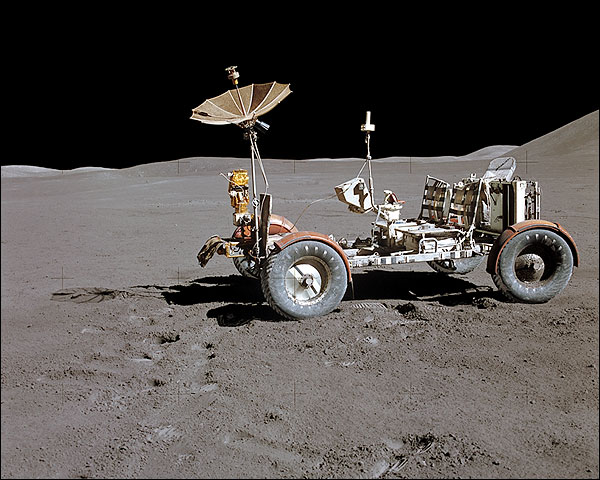 Apollo 15 Lunar Roving Vehicle on Moon NASA Photo Print for Sale