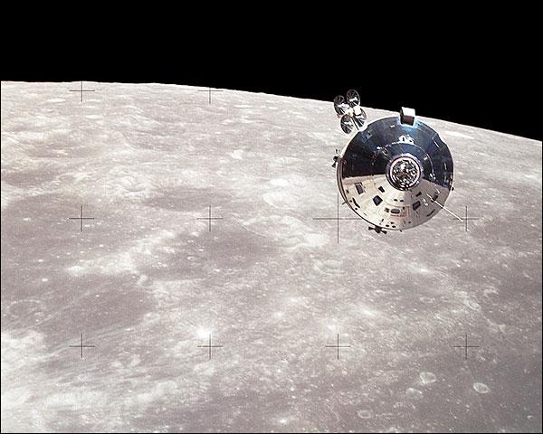 Apollo 15 Command Service Module & Moon Photo Print for Sale