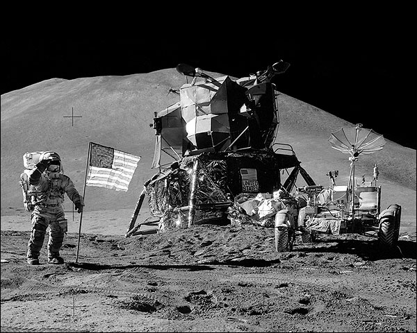 Apollo 15 Astronaut Jim Irwin on Moon Photo Print for Sale