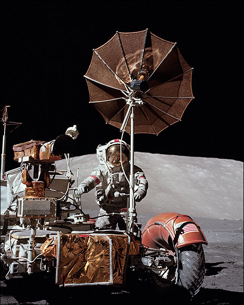 Apollo 17 Astronaut Eugene Cernan on Moon Photo Print for Sale