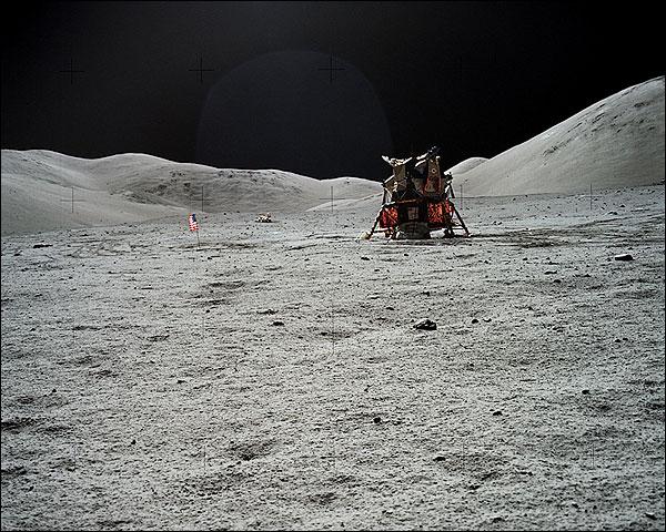 Apollo 17 Lunar Module on Moon NASA Photo Print for Sale