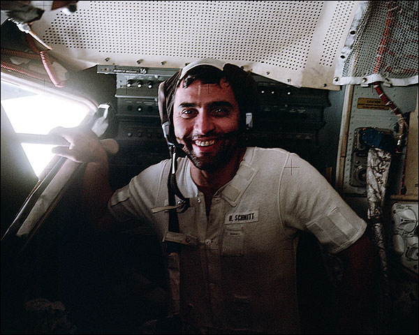 Apollo 17 Harrison Schmitt in Lunar Module Photo Print for Sale