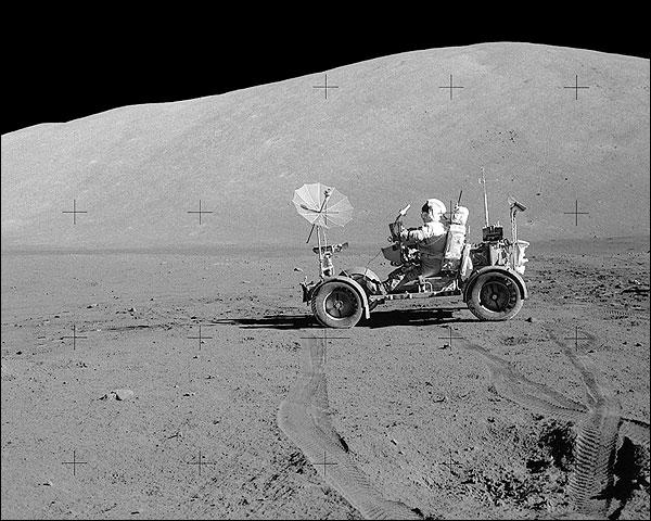 NASA Apollo 17 Eugene Cernan Lunar Rover EVA  Photo Print for Sale
