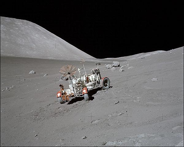 Apollo 17 Lunar Rover (LRV) on Moon Photo Print for Sale
