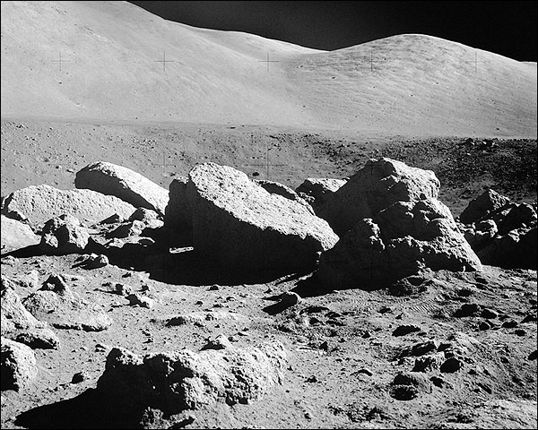 Apollo 17 Camelot Crater on Moon NASA Photo Print for Sale