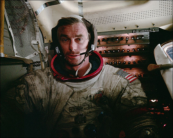 Apollo 17 Eugene Cernan in Lunar Module Photo Print for Sale