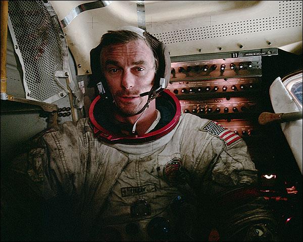 Apollo 17 Eugene Cernan in Lunar Module Photo Print for Sale