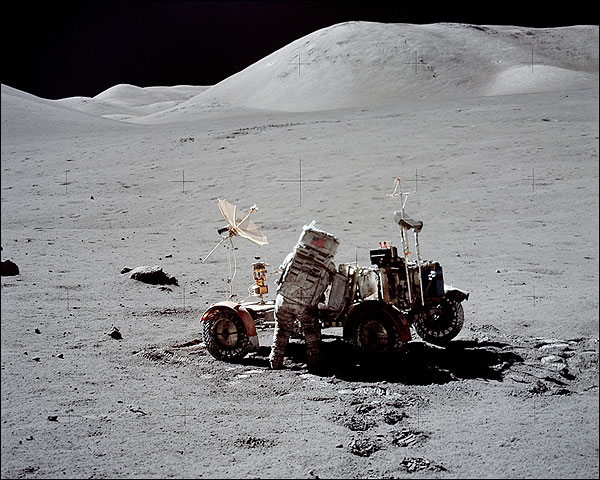 Apollo 17 Astronaut Eugene Cernan Moon NASA Photo Print for Sale