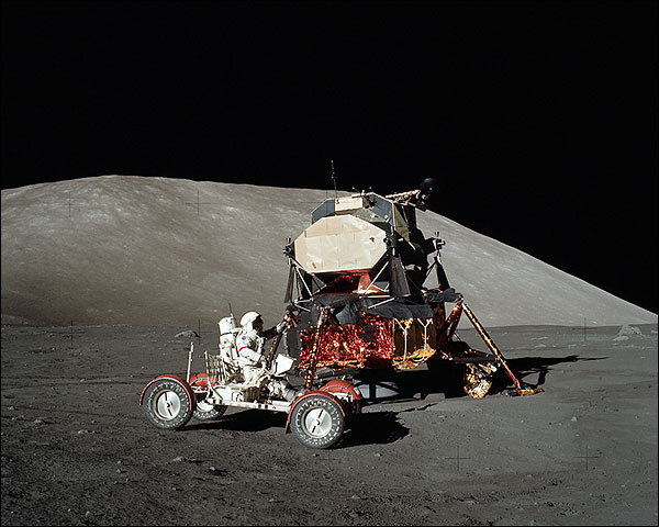 Apollo 17 Eugene Cernan LRV & LEM NASA Photo Print for Sale