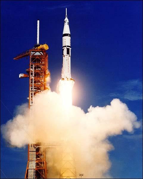 Apollo Soyuz Saturn 1B Rocket Launch NASA Photo Print for Sale