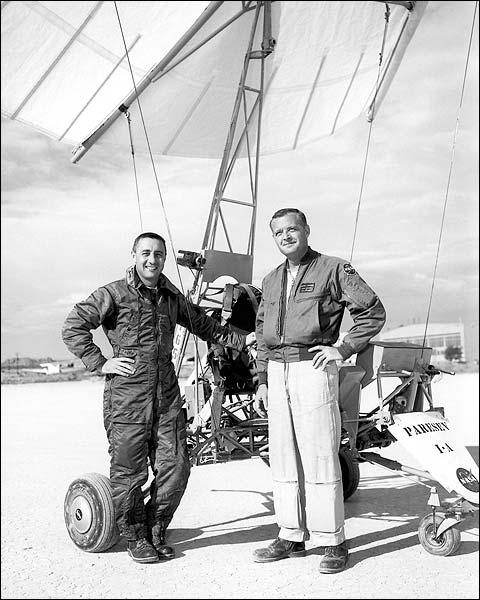 Gus Grissom & Milton Thompson & Parasev 1-A Photo Print for Sale