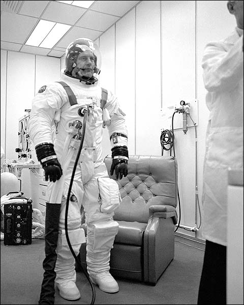 Apollo Soyuz Astronaut Deke Slayton in Space Suit Photo Print for Sale
